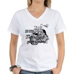 Two wheels move the soul Women's V-Neck T-Shirt