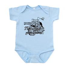 Two wheels move the soul Infant Bodysuit