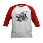 Two wheels move the soul Kids Baseball Jersey