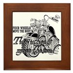 Two wheels move the soul Framed Tile