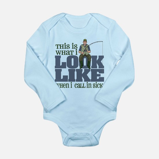 Call in Sick - Fishing Long Sleeve Infant Bodysuit