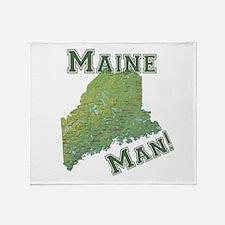 Maine Man Throw Blanket