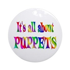 About Puppets Ornament (Round)
