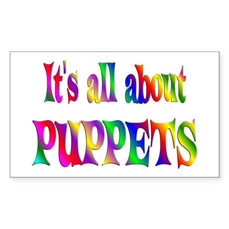 About Puppets Sticker (Rectangle)