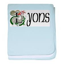 Lyons Celtic Dragon baby blanket