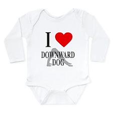 I Heart Downward Dog Long Sleeve Infant Bodysuit
