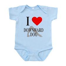 I Heart Downward Dog Infant Bodysuit