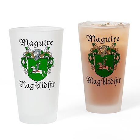 Maguire In Irish & English Pint Glass