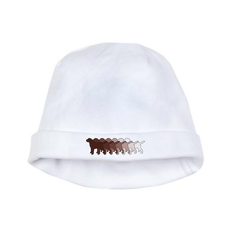 Chocolate Lab Gradient baby hat