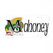 Mahoney Celtic Dragon Aluminum License Plate