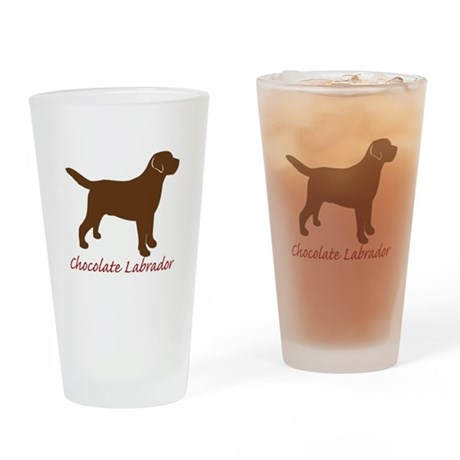 Chocolate Labrador Pint Glass