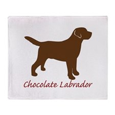Chocolate Labrador Throw Blanket
