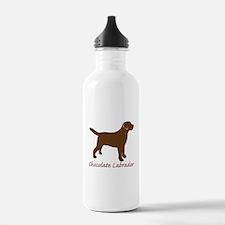 Chocolate Labrador Water Bottle