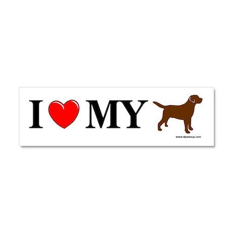 Love My Chocolate Lab Car Magnet 10 x 3