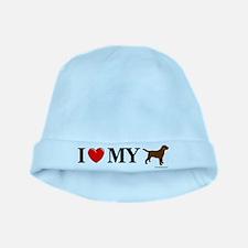 Love My Chocolate Lab baby hat