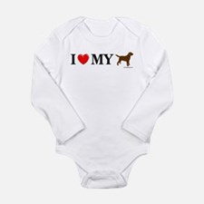 Love My Chocolate Lab Long Sleeve Infant Bodysuit