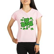Celtic Shamrocks Women's Sports T-Shirt