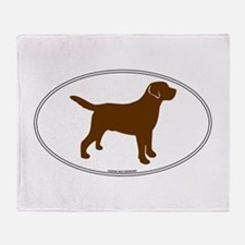 Chocolate Lab Outline Throw Blanket
