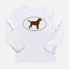 Chocolate Lab Outline Long Sleeve Infant T-Shirt