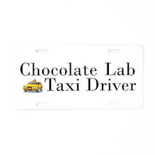 Chocolate Lab Taxi Aluminum License Plate