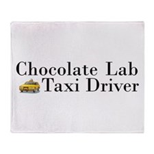 Chocolate Lab Taxi Throw Blanket