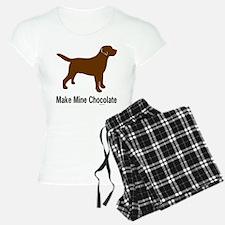 Make Mine Chocolate Lab Pajamas