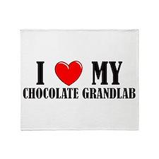 Chocolate Grandlab Throw Blanket