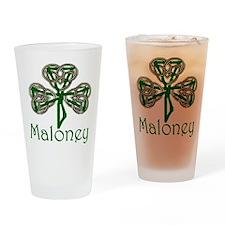 Maloney Shamrock Pint Glass
