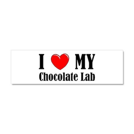 I Love My Chocolate Lab Car Magnet 10 x 3 by dakotasden