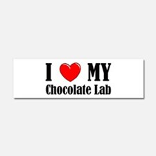 I Love My Chocolate Lab Car Magnet 10 x 3