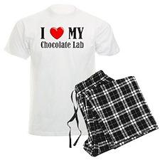 I Love My Chocolate Lab Pajamas