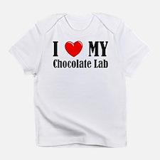 I Love My Chocolate Lab Infant T-Shirt