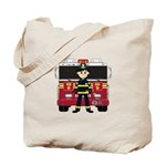 Fireman and Fire Engine Tote Bag