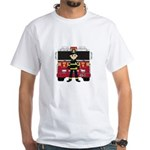 Fireman and Fire Engine White T-Shirt
