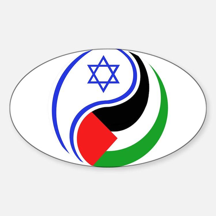 Cute Israel palestine peace Sticker (Oval)