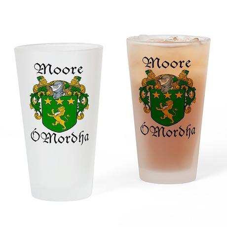 Moore In Irish & English Pint Glass