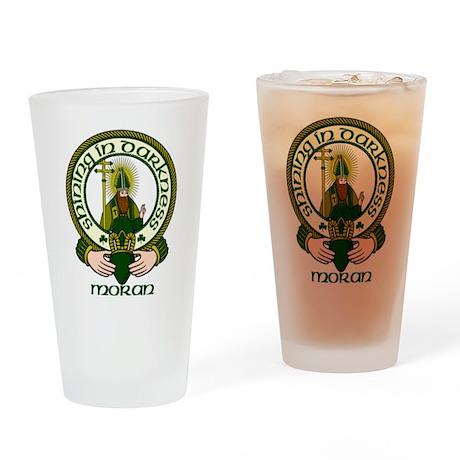 Moran Clan Motto Pint Glass