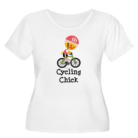 Cycling Chick Women's Plus Size Scoop Neck T-Shirt