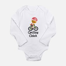 Cycling Chick Long Sleeve Infant Bodysuit