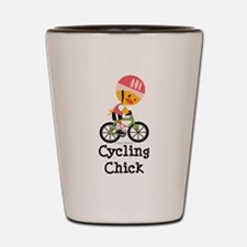 Cycling Chick Shot Glass