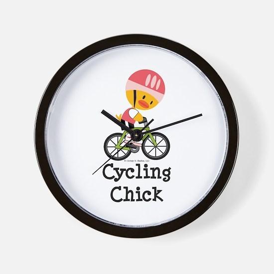 Cycling Chick Wall Clock
