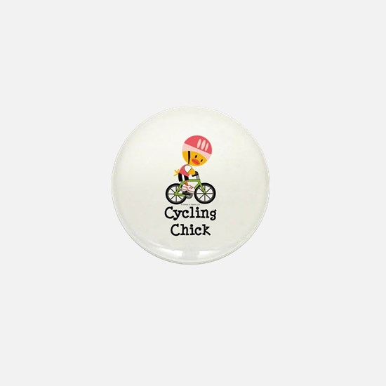 Cycling Chick Mini Button