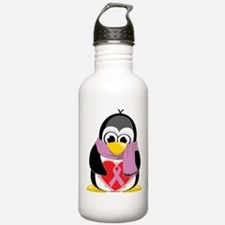 Orchid Ribbon Scarf Penguin Water Bottle