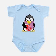 Orchid Ribbon Scarf Penguin Infant Bodysuit