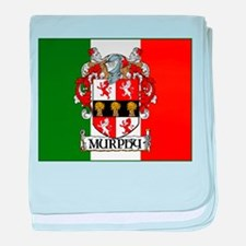 Murphy Arms Tricolour baby blanket