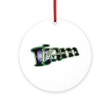 I Jam Electric Guitar Ornament (Round)