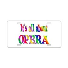 About Opera Aluminum License Plate