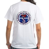 Airborne Mens White T-shirts