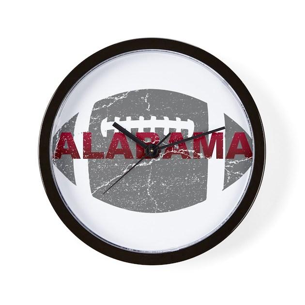 Alabama football wall clock by rtr4 for Alabama football wall mural