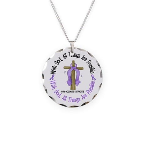 With God Hodgkin's Lymphoma Necklace Circle Charm